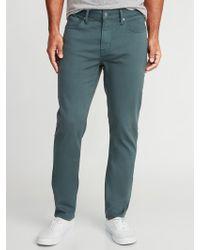 Old Navy - Slim Built-in Warm Five-pocket Twill Pants - Lyst