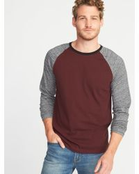9f2fd000 Lyst - Old Navy Soft-washed Color-block Raglan Tee in Blue for Men