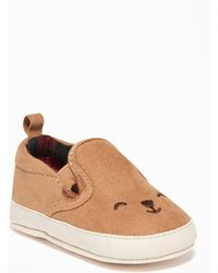 Old Navy - Faux-suede Bear-critter Slip-ons - Lyst