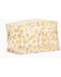 Old Navy - Clear Daisy-print Cosmetics Case - Lyst