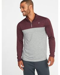 Old Navy - Color-blocked Go-dry 1/4-zip Pullover - Lyst