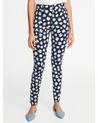 d0c5e824e Lyst - Old Navy Mid-rise Printed Pixie Ankle Pants in Pink