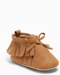 Old Navy - Fringed Moccasin Booties - Lyst