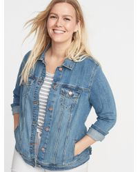 e5bdd36c510 Lyst - Old Navy Embroidered Plus-size Denim Jacket in Blue