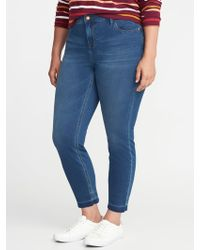 5a7b6a2db9ac7 Lyst - Old Navy Smooth   Slim High-rise Plus-size Rockstar Jeans in Blue