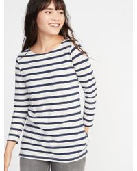 d97510d425e Lyst - Old Navy Everywear Mariner-stripe Plus-size Boat-neck Tee in Blue
