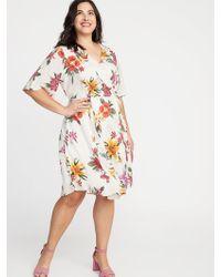 fcea988dbfa Old Navy Waist-defined Off-the-shoulder Plus-size Gingham Midi Dress ...