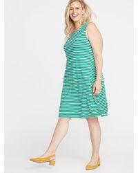 6e55c6d9ecb8b Old Navy - Sleeveless Plus-size Jersey Swing Dress - Lyst