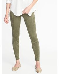 Old Navy - Stevie Sueded Ponte-knit Pants - Lyst