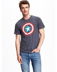 Old Navy - Marveltm Captain America Graphic Tee - Lyst