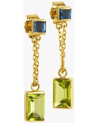 Yi Collection - Sapphire And Peridot Earrings - Lyst