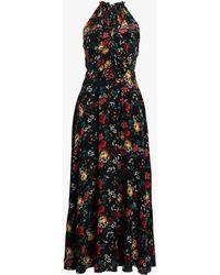 Derek Lam - Ruched Waist Silk Dress - Lyst