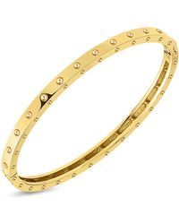 Roberto Coin - 18k Yellow Gold Symphony Pois Moi Bangle - Lyst
