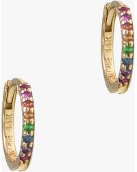 5616b83f3 Majorica Multicolor Pearl Earrings in Gray - Lyst