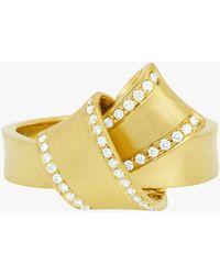Carelle - Jumbo Knot Diamond Trim Ring - Lyst