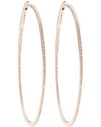 Nina Runsdorf - Diamond Pavé String Hoop Earrings - Lyst