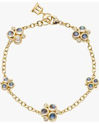 Temple St. Clair - Moonstone And Diamond Trio Bracelet - Lyst