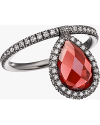 Nina Runsdorf - Medium Garnet Flip Ring - Lyst