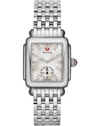 Michele Watches - Deco Mid Diamond Dial Watch - Lyst