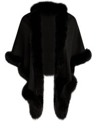 Sofia Cashmere - Sequin Fox Fur-trim Cashmere & Silk Shawl - Lyst