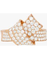 Carelle - Jumbo Knot Pavé Diamond Ring - Lyst