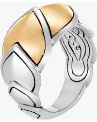 John Hardy - Naga Brushed Gold Ring - Lyst