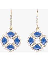 Amrapali - Manjari Lotus Enamel Earrings - Lyst