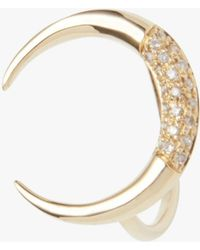 Jacquie Aiche - Diamond Teardrop Aquamarine Ring - Lyst