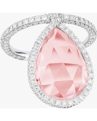 Nina Runsdorf - Rose Quartz Flip Ring - Lyst