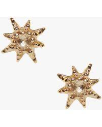 Anzie - Micro Aztec Starburst Studs - Lyst
