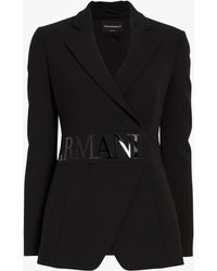 Emporio Armani - Armani Logo Blazer - Lyst