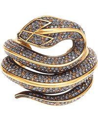 Roberto Cavalli - Snake Cuff Bracelet - Lyst