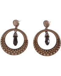 Roberto Cavalli - Rhinestone Pearl Drop Earrings - Lyst