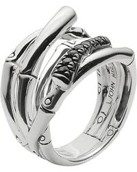 John Hardy - Bamboo Ring With Black Sapphire - Lyst