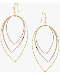 Lana Jewelry - Three Tier Tri-gold Earrings - Lyst