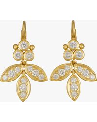 Temple St. Clair - Foglia Earrings With Diamond Pavé - Lyst