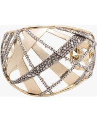 Alexis Bittar - Domed Plaid Metal Medium Cuff - Lyst