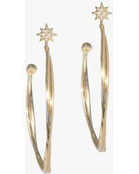 Anzie - North Star Twist Hoop Earrings - Lyst