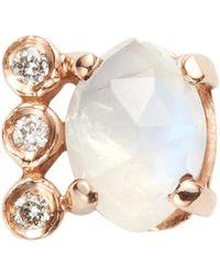 Jacquie Aiche - Diamond Moonstone Marquise Stud - Lyst