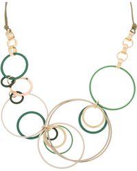Oliver Bonas - Olivine Coated Rings Necklace - Lyst