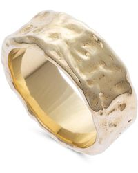 Oliver Bonas - Beltina Textured Gold Plated Ring - Lyst