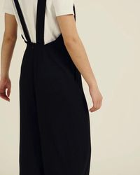 Oliver Bonas - Wow Black Layering Linen Jumpsuit - Lyst
