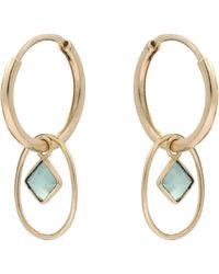 Oliver Bonas - Jacopo Interlink Circle & Stone Gold Plated Hoop Earrings - Lyst