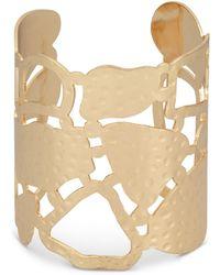 Oliver Bonas - Milanda Textured Organic Shapes Cuff Bangle - Lyst