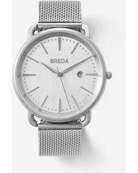Breda - Silver Stainless Steel Linx Watch - Lyst