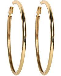 Kenneth Jay Lane - Small Gold Hoop Pierced Earrings - Lyst
