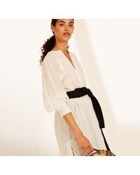 Amanda Wakeley - White Cotton Tunic With Black Belt - Lyst