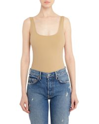 Getting Back to Square One - Sleeveless Neoprene Bodysuit - Lyst