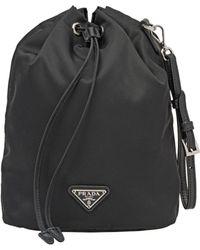 1cd3ef1c839c Prada Black Studded Strap Belt Pouch in Black - Lyst