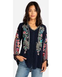 Johnny Was - Peacock Sable Blouse - Lyst